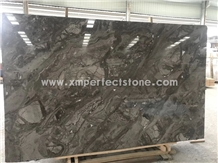 China New Dark Brown Marble Venice Gold Marble