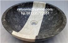 Ash Grey Marble Sink