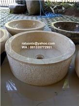 Java Beige Marble Wash Basin