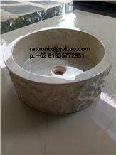 Java Cream Marble Wash Basins, Java Cream Marble Sink