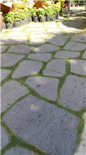 Basalt Garden Stepping, Grey Basalt Vietnam Walkway Pavers