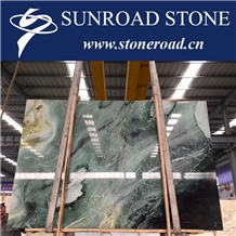 Dreaming Green Bookmatch Sky Blue Marble Slabs