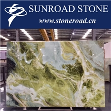 Dreaming Green, Sky Blue, Mint Green Marble Slabs
