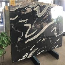 Brazilian Exotic Black Horse Granite Slabs