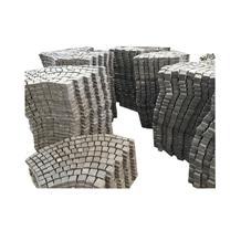 Fan Shaped Grey Color Granite Cube/Paving Stone