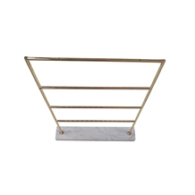 Jewelry Shelf with Carrarra White Marble Base