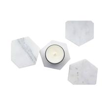 Natural Marble Stone Hexagon White Coasters