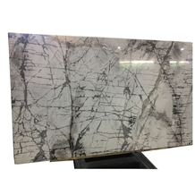 Polished Low Price Snowy White Marble Tiles