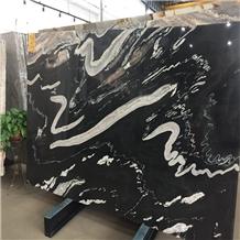 Polished Natural Black Horse Granite