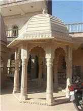 Agra White Sandstone Gazebo