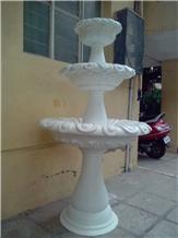 Makrana White Marble Fountain