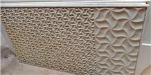 Mint White Sandstone Cnc Wall Panels
