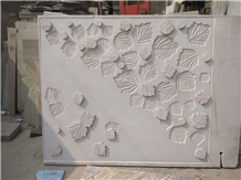 Mint White Sandstone Cnc Wall Panels
