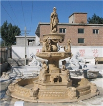 Mint Yellow Sandstone Fountain