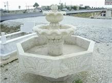 Moon White Marble Fountain