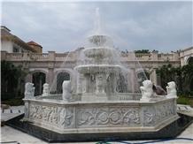 Opal White Marble Fountain