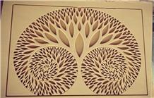 Teak Wood Sandstone Cnc Carved Wall Panels