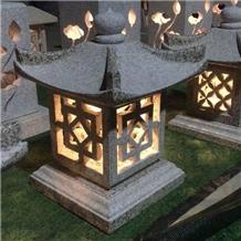 Decorative Garden Stone Granite Solar Lanterns
