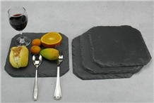 Natural Black Slate Stone Coasters