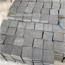 Flamed Black Granite Driveway Cobble Paver Setts