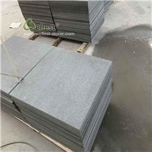 Flamed Brushed Black Granite Paving Stone Tiles