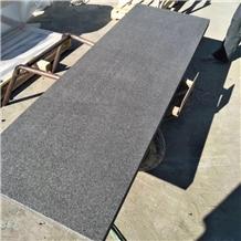 New G684 Flamed Black Granite Stair Treads Steps