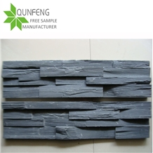 Black Culture Stone Panel Slate Wall Cladding