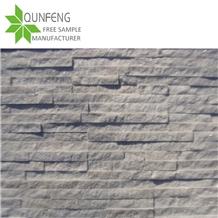 China White Quartzite Split Face Culture Stone