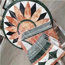 Flower Waterjet Medallion Marble Flooring Designs