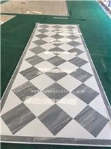 Modern Waterjet Marble Floor Design Pattern Tiles