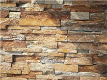 Ochre Rock Panels Stone Wall Tiles for Fireplace