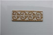 Indus Gold Marble Mosaics Borders, Medallions