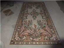 Marble Mosaics Exquisite Flower Medallions Carpet