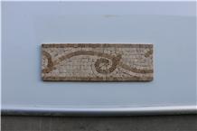 Marble Mosaics,Polished Marble Medallions Borders