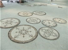 Marble Mosaics Round Carpet Medallions for Floor