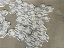 Marble Mosaics Waterjet Pattern, Medallions for Floor