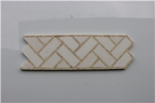 Polished Thassos Indus Gold Marble Mosaic Borders