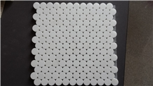 Thassos Crystal White Penny Round Marble Mosaics