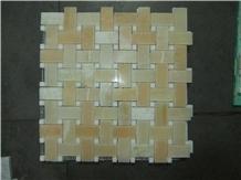 Turkey Honey Onyx Basketweave Mosaic,Tile