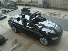 Black Granite Automobile Sculptures Car Carving