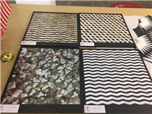 China Polished Bathroom Pearl Shell Mosaic