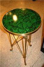 Lightweight Malachite Green Marble Handmade Panels