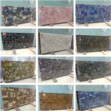 Semiprecious Stone Gemstone Agate Slabs Tiles