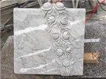 Custom White Marble Carving Stone