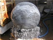 Rolling Ball Fountain,Gray Mist Granite Ball Fountain,Sphere