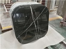 China Black Marquina Marble Table Top