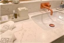Volakas White Marble Bath Tops, Jazz White Marble
