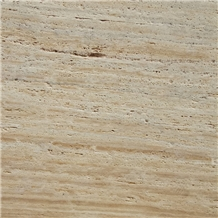 Kula Light Travertine Vein Cut Tiles, Slabs