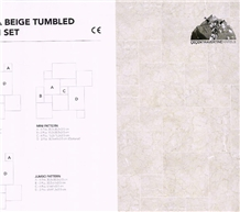 Meonya Beige Marble Tumbled French Pattern