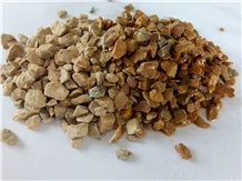 Earth Yellow Granite Crushed Stone Chips Aggregate